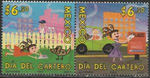 MEXICO 2559a-b, LETTER CARRIERS AND POSTAL EMPLOYEES DAY. USED. VF. (20)