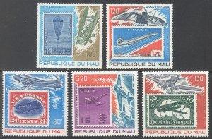 1978 Mali 666-670 Airplanes 4,50 €