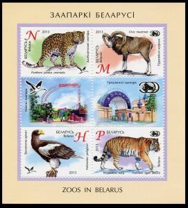 2013Belarus959-62/B105Zoos of Belarus