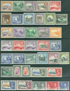 EDW1949SELL : CYPRUS 1934-44 Scott #125-55 Cplt All VF MOG Some NH Catalog $395+