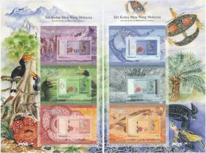 Malaysia 2012 Currency (2nd Series) set of 2 Sheetlets SG #1892 a&b MNH