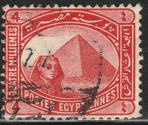 EGYPT 47, 4m GIZA SPHYNX AND PYRAMIDS.USED.  F. (308)