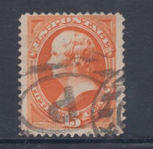 US Sc 152 used 1870 15c Daniel Webster F-VF