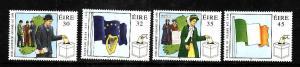 Ireland-Sc#1137-40-unused NH set-Democracy stamps-Women vote-EU Entrance-1998-