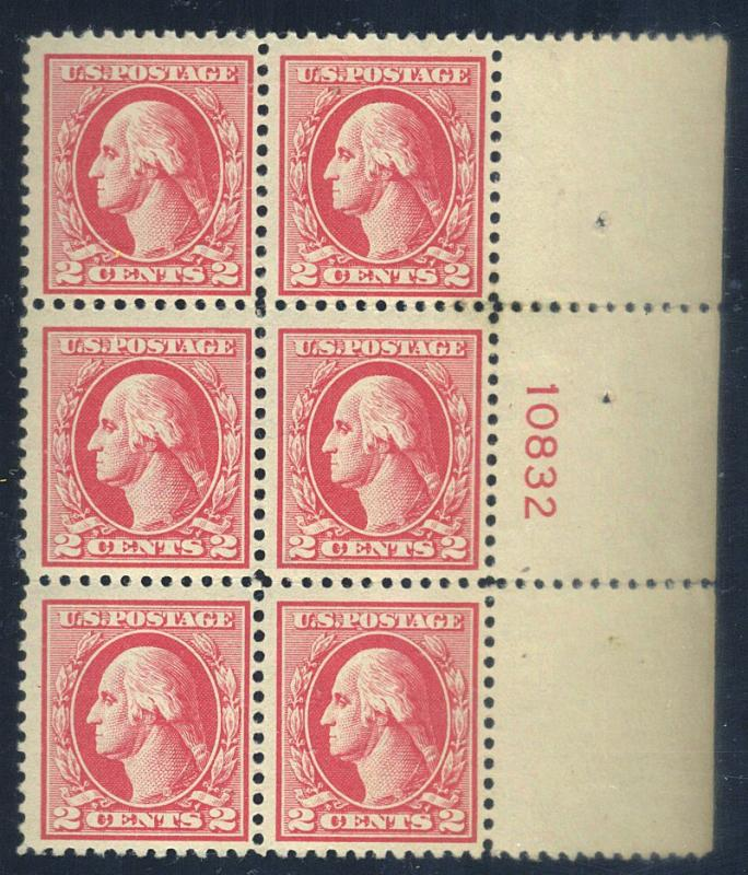 526 MINT Plate Block F-VF OG LH 4 stps NH Cat$280