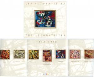 Canada - 1998 Artists Les Automatistes Booklet #BK209a
