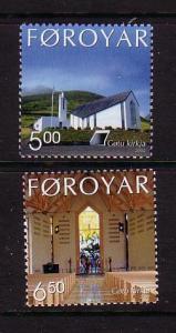 Faroe Islands Sc 434-5  2002 Gota Church stamp set mint NH