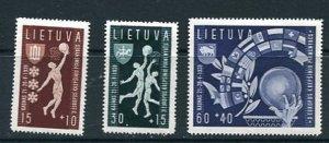 Lithuania 1938 Mi 429-431 MH Sport 8685