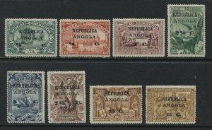 Angola 1913 overprinted on Macao set mint o.g. hinged