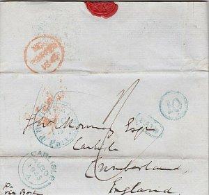 USA 1845 Entire Philadelphia to UK - Bank draft inside - Paid 10............T443