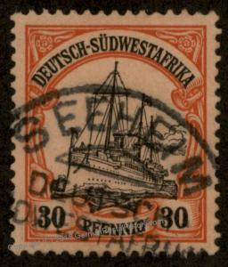 Germany SW Africa SEEHEIM DSWA Unwmk Yacht 89837