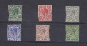 Gibraltar KGV 1912 Set To 1/- SG76/81 MH JK1197