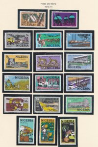 Nigeria # 291-307, Pictorial Definitives, NH, 1/2 Cat.