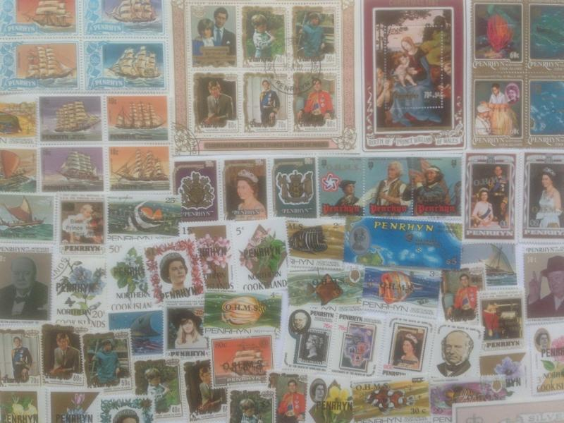 50 Different Penrhyn Stamp Collection