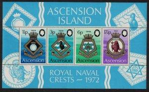 Ascension Royal Navy Crests 4th series MS 1972 MNH SG#MS158