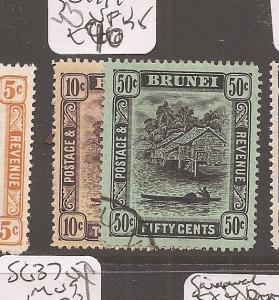 Brunei 1908 SG 42,45 VFU (2axi)