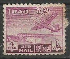 IRAQ, 1949, used 4f, Basra Airport Scott C2    variety world stamps