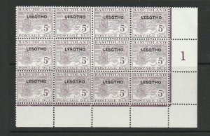 Lesotho 1966 Postage Due, 5c Violet, LSEOTHO error UM/MNH in positional block of