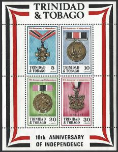 Trinida & Tobago #222a MNH Souvenir Sheet of 4