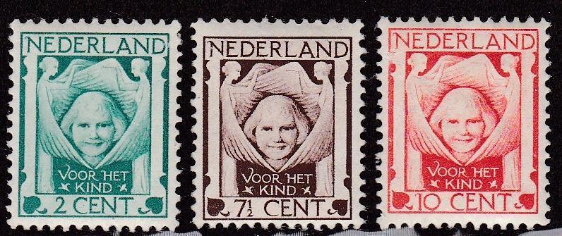 Netherlands # B6-8, Charity Protecting Child, LH, Half Cat
