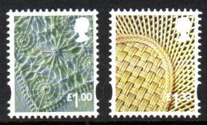 Great Britain Northrn Ireland 41-2 2015 £1 linen £1.33 china stamp set mint NH
