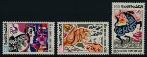 Tunisia 851-3 MNH Art, Coquette, The Sorceress, Boy Riding Horse