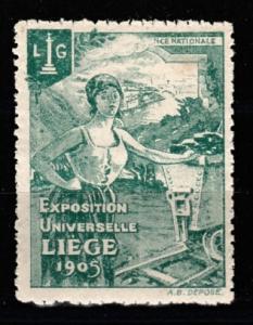 1905 Exposition Universelle LIEGE vignette MNH **