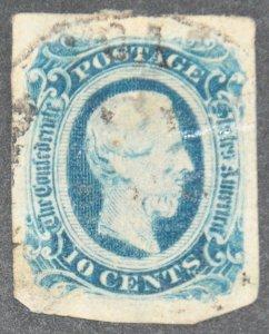 Confederate States of America Scott #12 – USED
