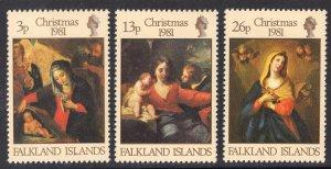 FALKLAND ISLANDS SCOTT 331-333