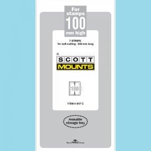 Scott Mounts Clear 100mm STRIP 240mm, (Pgk. 7)(00947C)