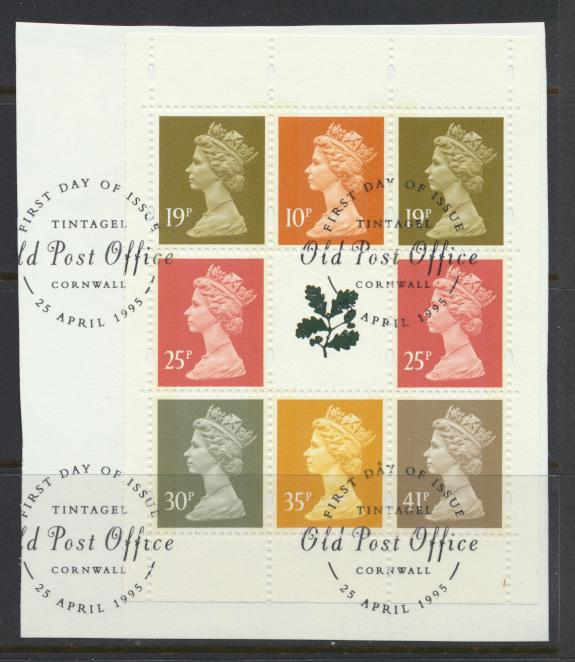 GB Machin SG Y1767l  Used National Trust se-tenant pane on piece   see details