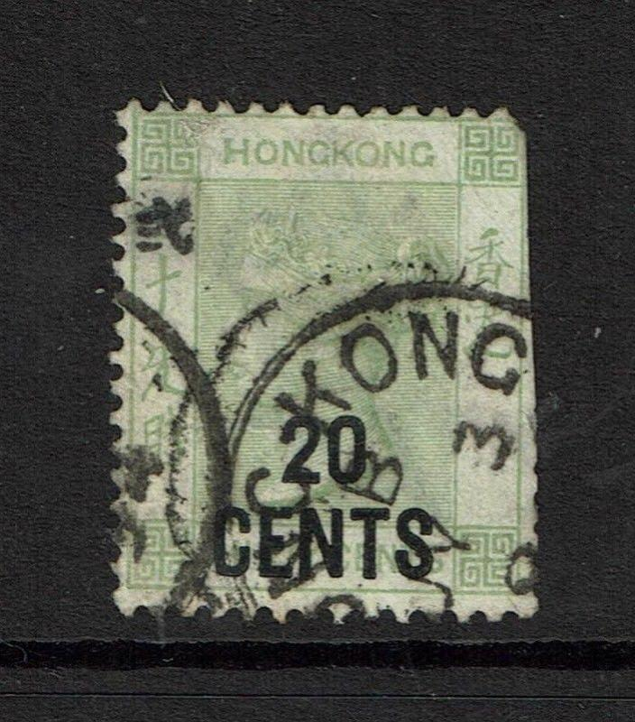 Hong Kong SG# 48, Used, straight edge, pulled top perf - S3959