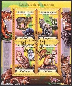 Guinea 2015 Cats Sheet Used / CTO