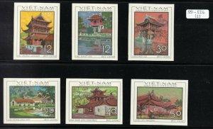 North Viet Nam - 1968 - Sc 521 - 526  - Architecture - Imperforation - MNH - #2