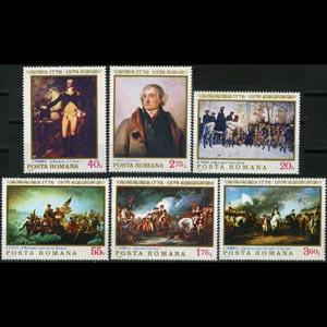 ROMANIA 1976 - Scott# 2603-8 Paintings Set of 6 NH