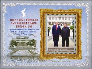 Korea 2019. Meeting of Kim Jong-un and Donald Trump (MNH OG) Souvenir Sheet