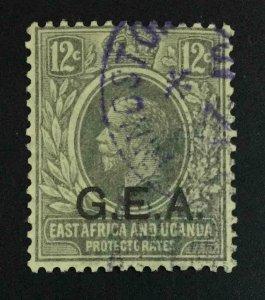 MOMEN: GERMAN EAST AFRICA SG #63 1921 SCRIPT CA USED SCARCE £130 LOT #63585