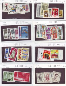 Z634 JL stamps germany DDR mnh with sets on sales cards, checked & sound scan