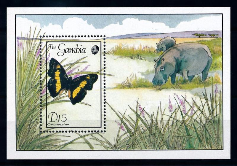 [70698] Gambia 1989 Insects Butterflies Souvenir Sheet MNH