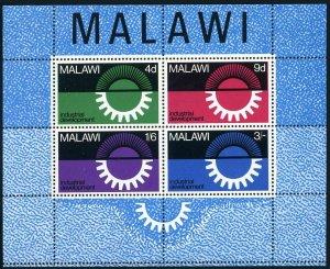 Malawi 78a sheet,MNH.Michel Bl.8. Industrial development 1967.