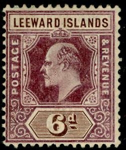 LEEWARD ISLANDS SG34, 6d dull purple & brown, M MINT. Cat £55.
