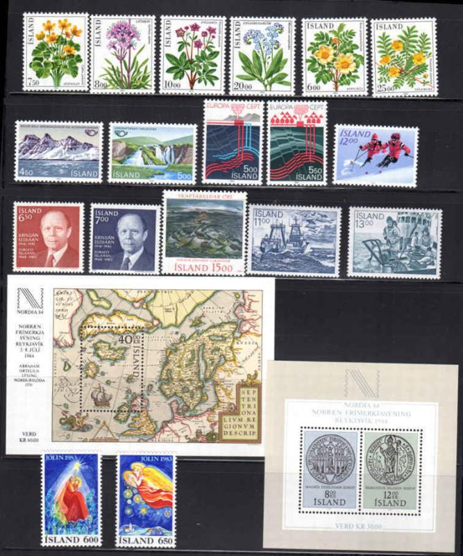 Iceland Mint Never Hinged Selection CV $70.95 All Pictured  (r10)