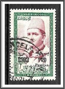 Morocco Northern Zone #22 Sultan Mohammed V  Surcharged Used