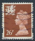 Great Britain Wales  SG W74 SC# WMMH61 Used 26p Machin see scan