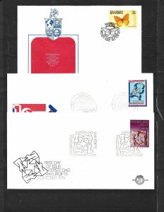 COLLECTION LOT OF 8 WORLD WIDE FDC, SOUVENIR SHEET & POSTCARD 3 SCAN