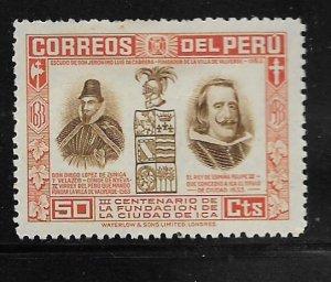 PERU 337 HINGED ZUNIGA Y VELAZCO