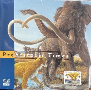 US Stamp Folio 1996 Prehistoric Animals 4 different 3077-80