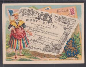 Bognard, Paris #19 circa 1900 Stamps & Banknotes of Denmark Card
