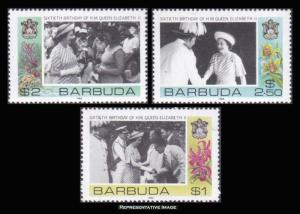 Barbuda Scott 779-781 Mint never hinged.