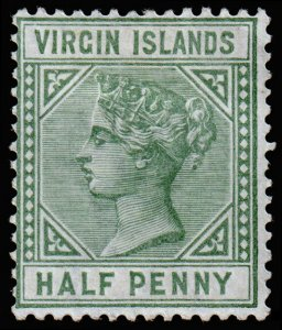 British Virgin Islands Scott 13 (1883) Mint H F-VF, CV $6.75 M